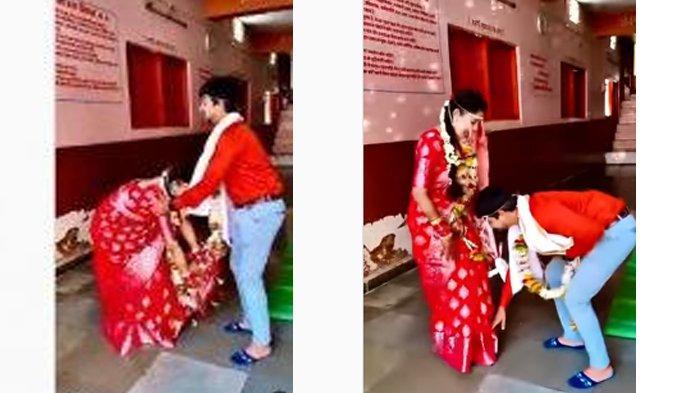 Viral perlakuan pengantin pria pada istrinya
