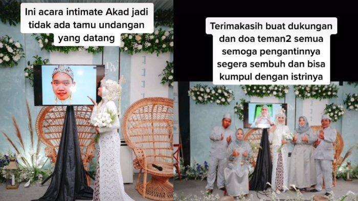 VIRAL Pasangan Gelar Pernikahan Online, Foto Pelaminan Bareng Layar TV, Ini Kisah Pilu di Baliknya