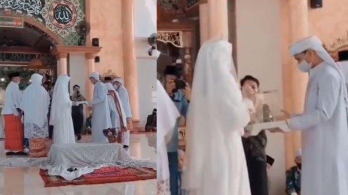 VIRAL Video Akad Nikah Pengantin yang Enggan Bersentuhan Padahal Sudah Halal, Videografer Keheranan