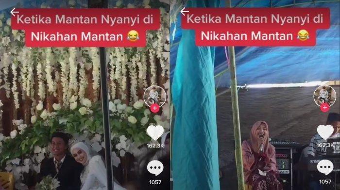 VIRAL Gadis Nyanyi Lagu Mendayu di Nikahan Mantan, Ekspresi Mempelai Wanita Disorot, Tertawa Puas