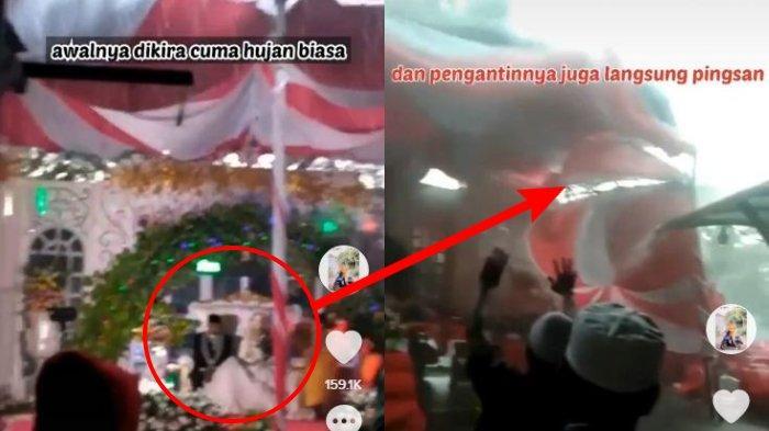 VIDEO Detik-detik Tenda Pernikahan Roboh Diterjang Angin, Tamu Berhamburan, Pengantin Wanita Pingsan