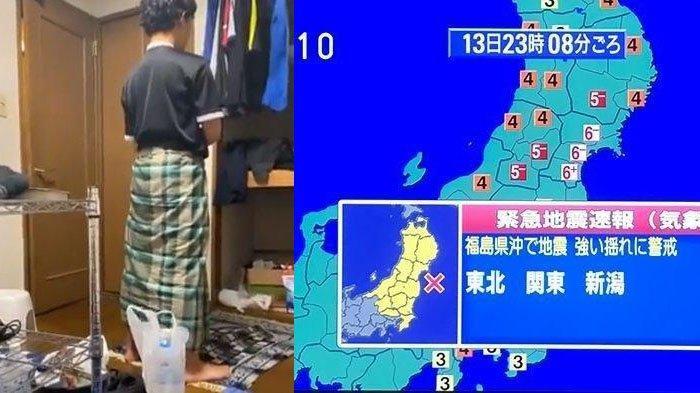 VIRAL Video Pria Khusyuk Salat saat Gempa di Jepang Terjadi, Si Perekam Tak Henti Ucap Istighfar