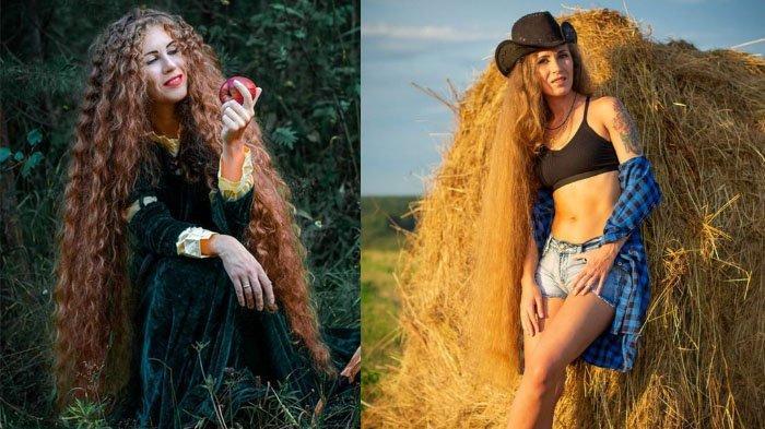 Viral wanita memiliki rambut panjang hingga dijuluki rapunzel