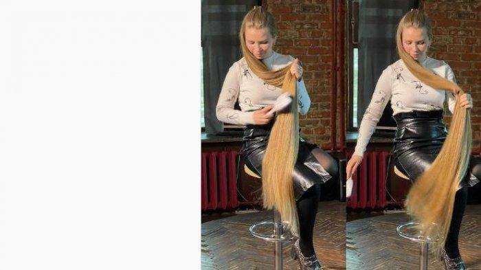 Viral wanita rambut panjang bak Rapunzel.
