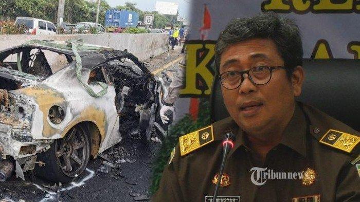 KRONOLOGI Kecelakaan yang Tewaskan Wakil Jaksa Agung, Mobil Tabrak Pembatas Jalan Lalu Terbakar