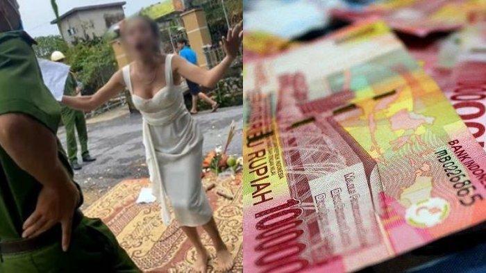 Kesal Tak Kunjung Dibayar, Wanita Ini Bakar Sesaji di Depan Rumah Pengutang, Begini Reaksi Debitur