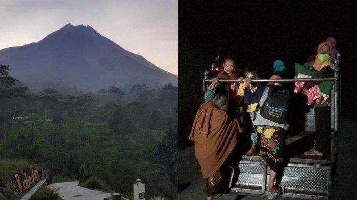 ERUPSI Gunung Merapi Makin Mencemaskan, Detik-detik Lansia, Ibu Hamil, Anak-anak Bergegas Diungsikan