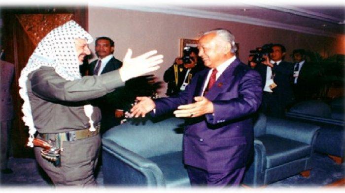 Persahabatan tokoh pembebasan Palestina Yasser Arafat dan Presiden Soeharto