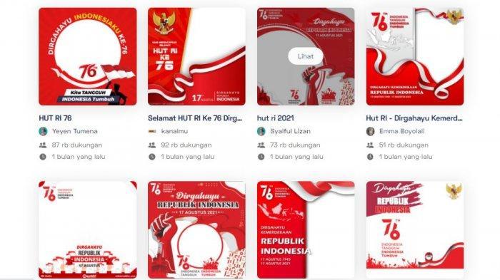 DOWNLOAD Twibbon HUT ke-76 Republik Indonesia, Kirim Ucapan Selamat Hari Kemerdekaan RI