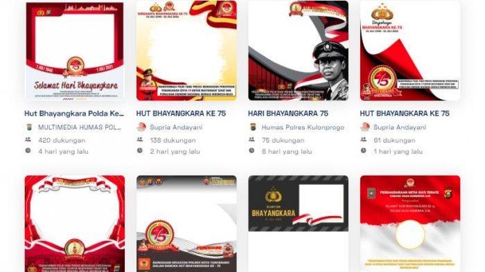 16 Bingkai Foto Hari Bhayangkara 2021, Link Twibbon Dirgahayu Bhayangkara Ke-75 di Twibbonize.com