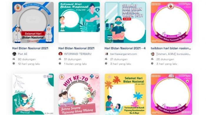 21 Twibbon Hari Bidan Nasional 2021, Bingkai Foto Kartu Ucapan Selamat di Twibbonize.com