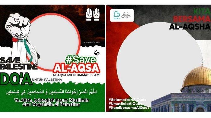 25 Twibbon Save Palestina, Link Bingkai Foto Template Dukung Palestina Twibbonize.com