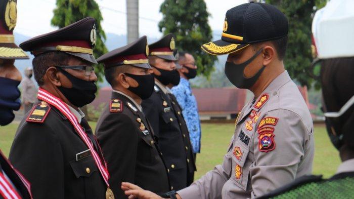 Wisuda Purnabakti Personel Polres Tanah Datar Digelar, Terapkan Protokol Kesehatan Covid-19