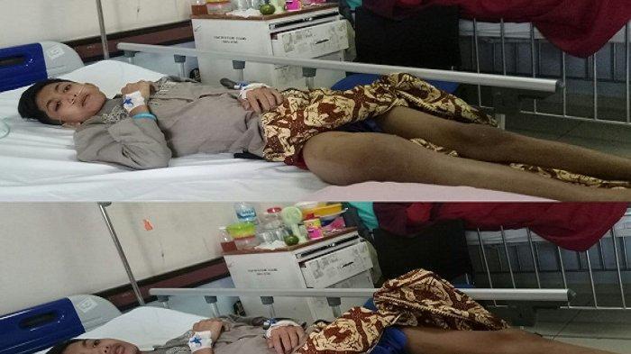 Aji, Santri Tahfiz Qur'an di Padang Terbaring Lemah Didera Kanker Tulang Langka