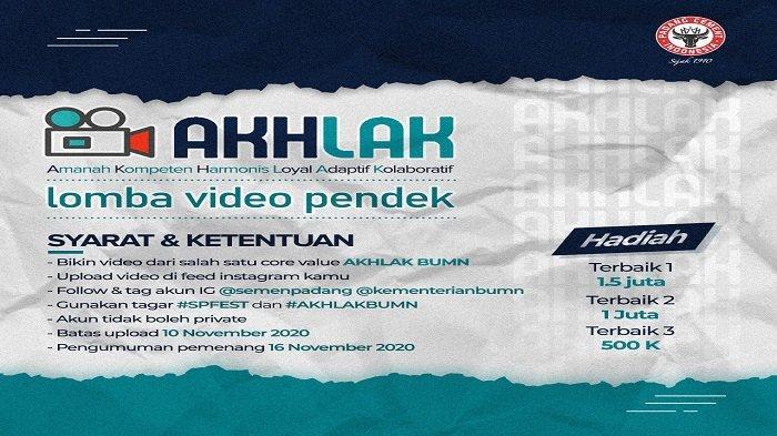 "PT Semen Padang Gelar Lomba Video ""AKHLAK BUMN"", Ayo! Rebut Hadiah Jutaan Rupiah"