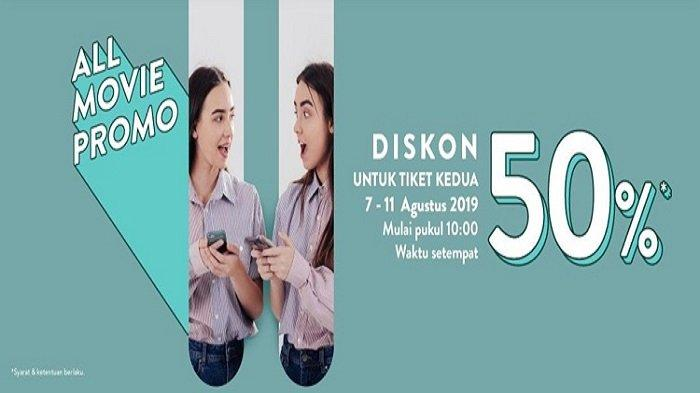 HANYA HARI INI & BESOK Diskon 50 Persen, Tiket Kedua untuk Semua Judul Film di TIX ID