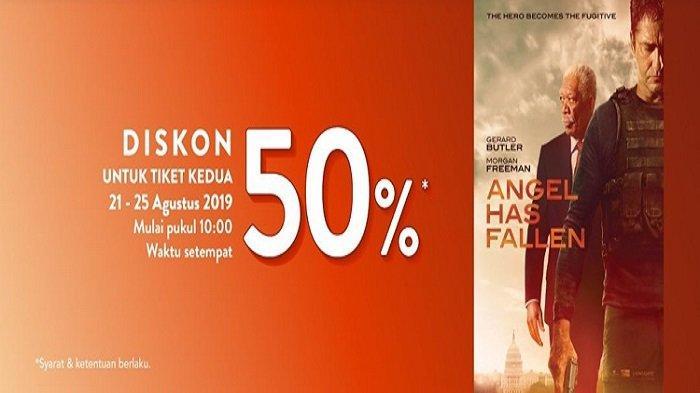 Hari Ini Terakhir Diskon 50 Persen Pembelian Tiket Kedua Film Angel Has Fallen