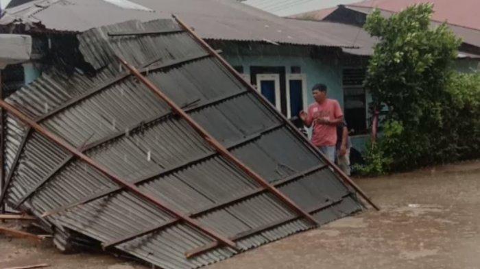 Puting Beliung Melanda Padang Selama 45 Menit, 4 Rumah di Bungus Rusak, Atap Diterbangkan Angin