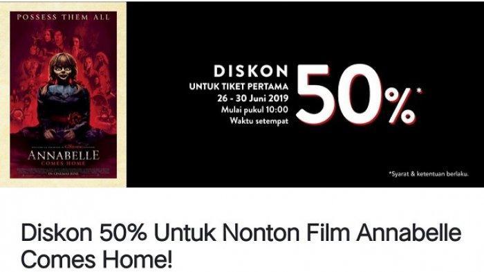 ADA PROMO Tix ID Film Annabelle Comes Home, Diskon 50 Persen Untuk Tiket Pertama