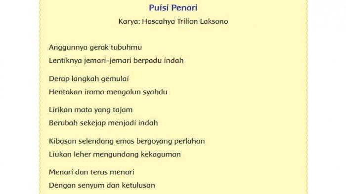 Terdiri Atas Berapa Bariskah Puisi Penari Tersebut Tribun Padang