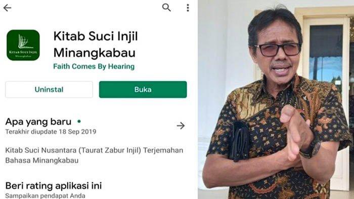 Gubernur Sumbar Irwan Prayitno SoalAplikasi Kitab Suci Injil Minangkabau di Play Store Google