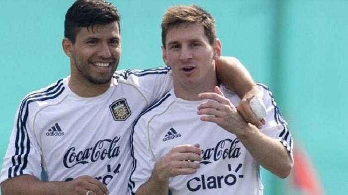 Sergio Aguero dan Lionel Messi, saat keduanya berseragam Timnas Argentina