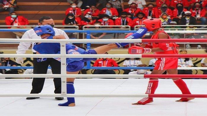 Dua Atlet Muaythai Sumbar Tembus Babak Semi Final PON XX Papua 2021