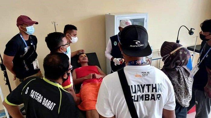 PON Papua 2021: Atlet Muaythai Sumbar Cedera saat Bertanding Menghadapi Tuan Rumah di Kelas 57 Kg