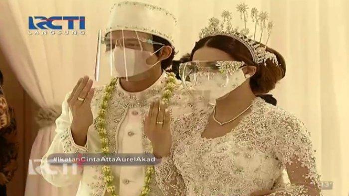 Aurel Hermansyah Resmi Jadi Istri Atta Halilintar, Jokowi dan Prabowo Hadir Sebagai Saksi