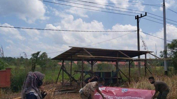 Bawaslu Dharmasraya Tertibkan Ribuan Alat Peraga Cagub Sumbar dan Calon Bupati