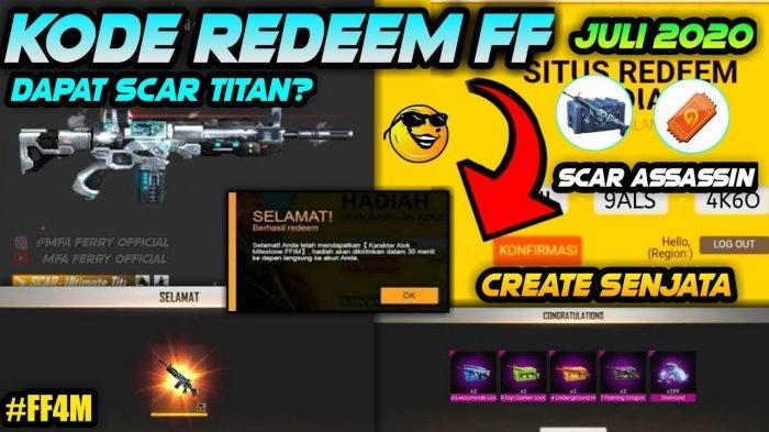 Terbaru Kode Redeem Free Fire Disebut Bisa Dapat Scar Titan Atau Skin Senjata Scar Tribun Padang
