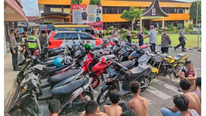4 Cewek Ikut Diamankan Bersama 30 Remaja yang Terlibat Balap Liar di Padang Seusai Sahur