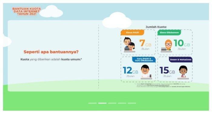 Mulai September 2021 Bantuan Kuota Internet Gratis dan Uang Kuliah Tunggal (UKT) Disalurkan