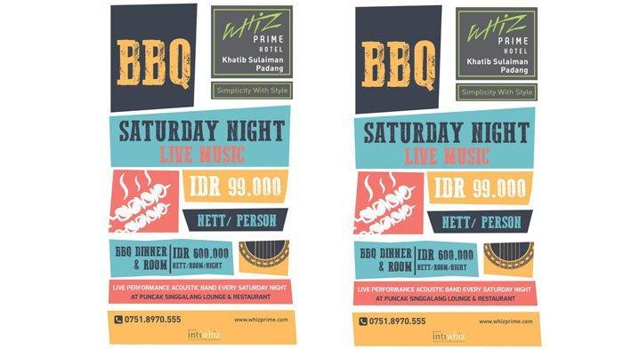 BBQ Saturday Night All You Can Eat di Whiz Prime Hotel Padang,Rp 99 Ribu/Orang Makan Sepuasnya