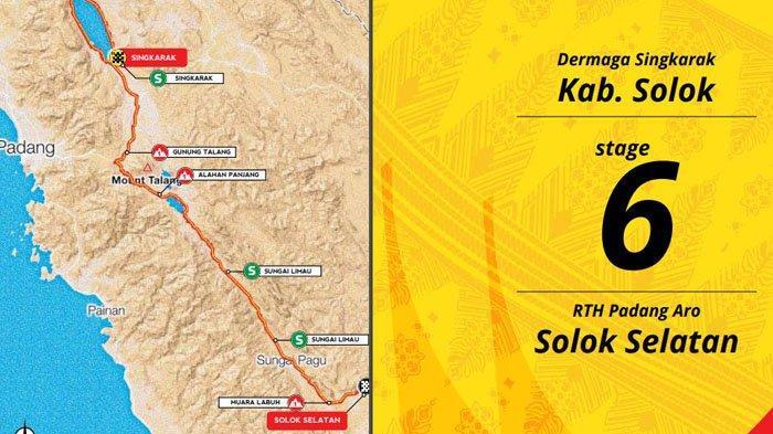 Besok Etape 6 Tour de Singkarak, Peserta TdS 2019 Start di Dermaga Singkarak, Ini Rute yang Dilewati