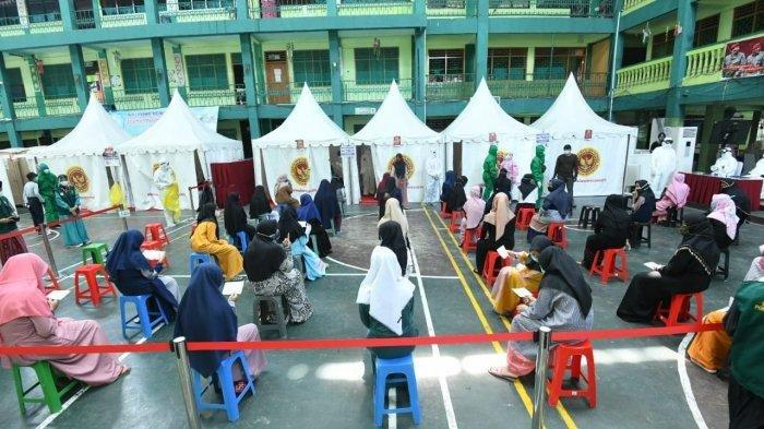 Ratusan Santri di Jakarta Barat Ikuti Rapid Test Antigen Covid-19, Pondok Pesantren Kerja Sama BIN
