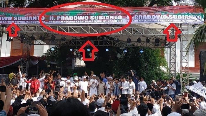 Sandiaga Uno Tidak Hadir Di Acara Syukuran Kemenangan Prabowo-Sandiaga Uno,Nama Tidak Ada Di Spanduk