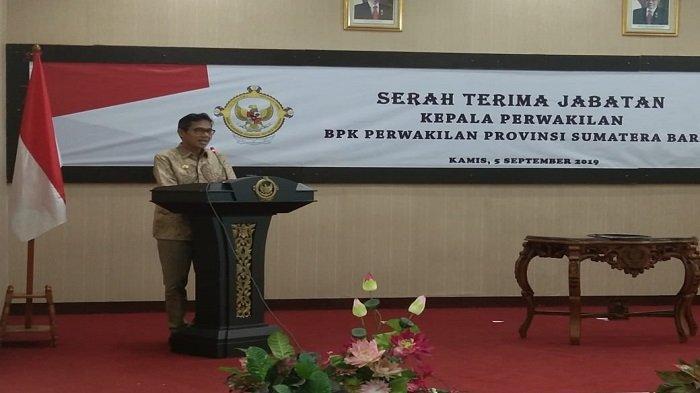 Hadiri Sertijab Kepala BPK Perwakilan Sumbar, Ini Pesan Gubernur Irwan Prayitno
