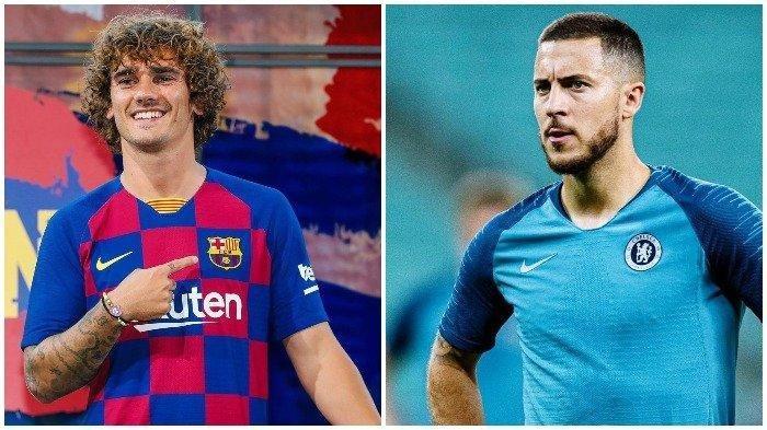 Bursa Transfer Eropa: Ini Daftar 5 Pemain Termahal,Antoinne Griezmann hingga Eden Hazard