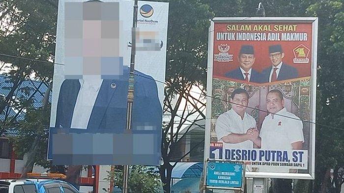 Banyak Caleg Kubu 01 Tak Berani Pasang Foto Jokowi di Alat Peraga Kampanye di Padang, Ini Alasannya