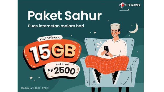 Cara Beli Paket Sahur Internet Malam Telkomsel, 15 GB hanya Rp 22 Ribu, Masa Aktif 31 Hari