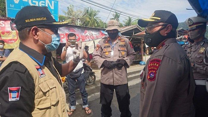 Giat Tim Satgas Aman Nusa II Polda Sumbar, Tinjau Rapid Test di Pasar Pagi Parak Laweh Kota Padang