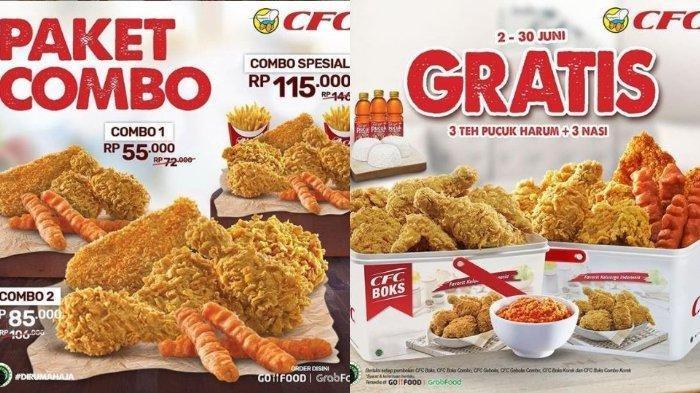 Promo CFC Boks Nikmati Gratis 3 Teh Pucuk Harum dan 3 Nasi Putih Sampai 30 Juni Mendatang