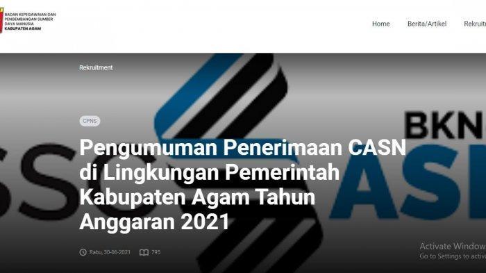 Lokasi Tes CPNS Agam 2021: Seleksi Kompetensi Dasar CPNS/PPPK Dilaksanakan di STAIN Bukittinggi