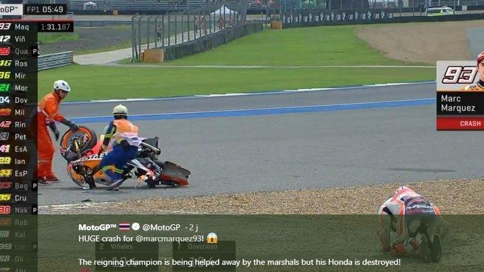 UPDATE MotoGP - Marc Marquez Dapatkan Izin dari Dokter, Comeback ke Lintasan Sirkuit Algarve