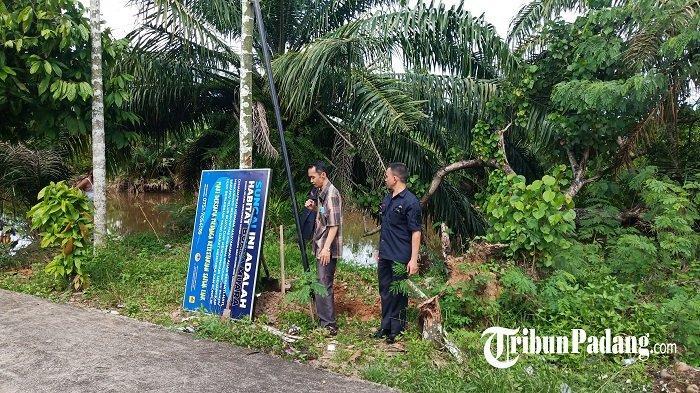 Tindak Lanjut Buaya di Dadok Tunggul Hitam Kota Padang, Petugas BKSDA Pasang Plang Peringatan