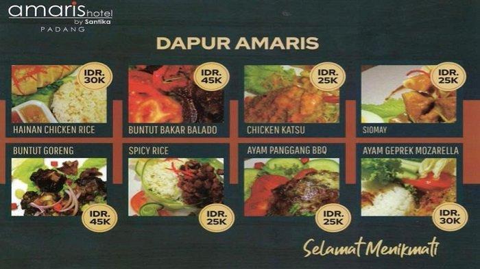 New Menu Promo di Hotel Amaris Padang: Harga Mulai Rp 25.000