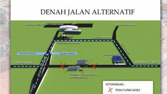 Jalur Alternatif Saat Jalan Padang-Bukittinggi Terapkan Buka Tutup 12 Juli-15 Juli 2021