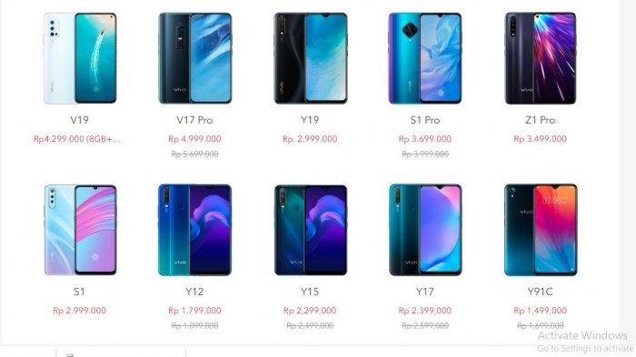 11 HP Vivo Turun Harga Akhir Maret 2020, Vivo V17 Pro, Vivo S1 Pro, Vivo V15Pro hingga Vivo Y95