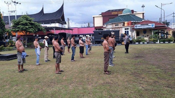 Ikuti Perintah Kapolri, Polresta Padang Amankan 17 Orang Diduga Lakukan Pungli Terhadap Sopir Angkot